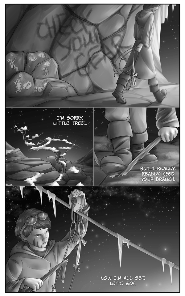 GIFTS OF WANDERING ICE - sci-fi comic about ancient things